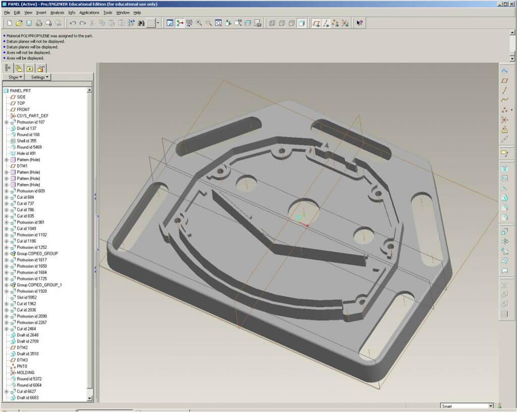 CNC machining center programming softwarePro/ENGINEER